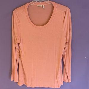 LOGO Lori Goldstein soft jersey top Size L